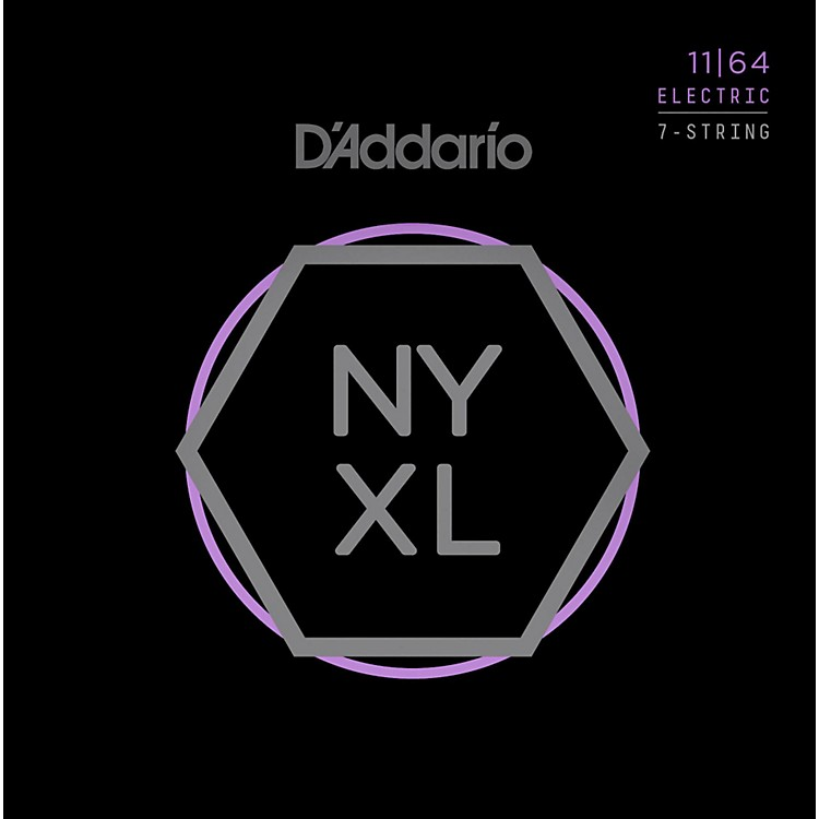 D'AddarioNYXL1164 7-String Medium Nickel Wound Electric Guitar Strings (11-64)