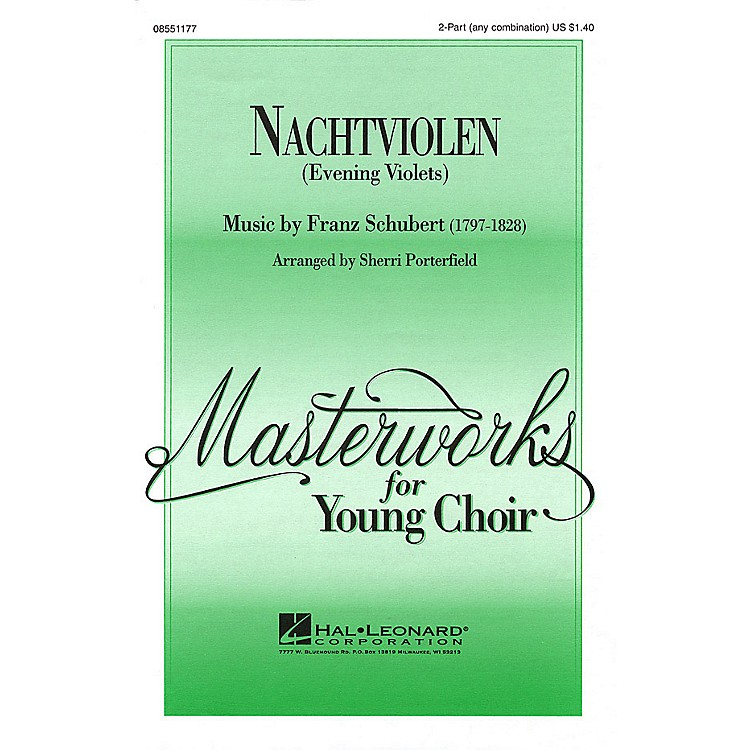 Hal Leonard Nachtviolen (Evening Violets) 2-Part any combination arranged by Sherri Porterfield