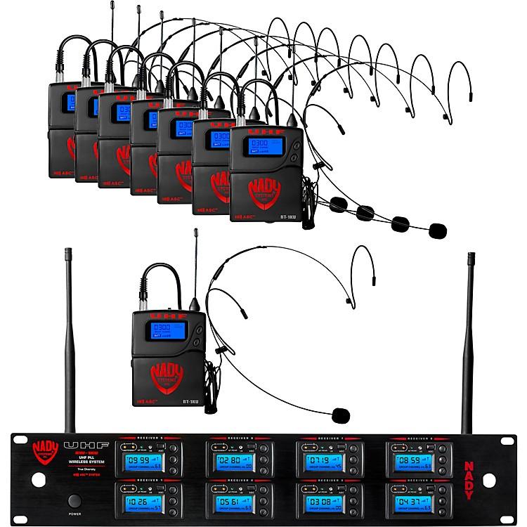 NadyNady 8W-1KU Eight 1000-Channel Headset Wireless System, BlackBeige