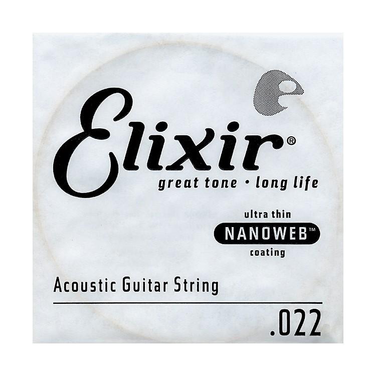 ElixirNanoweb .022 Acoustic Guitar String 4-Pack Singles