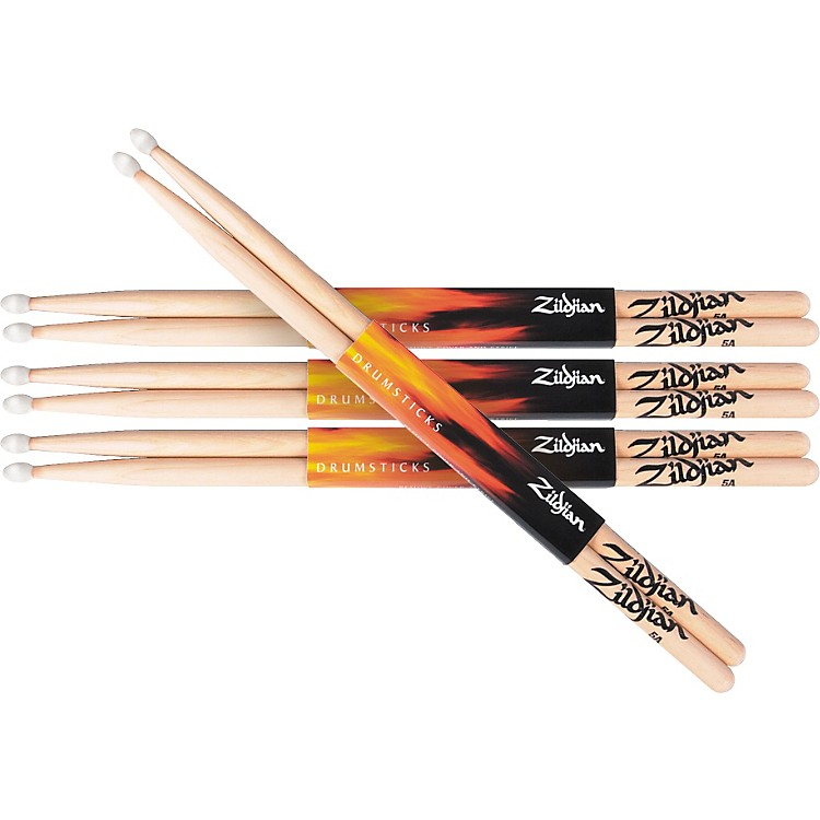 Zildjian Natural Hickory Drumsticks 5A wood Buy 3 Get One Free