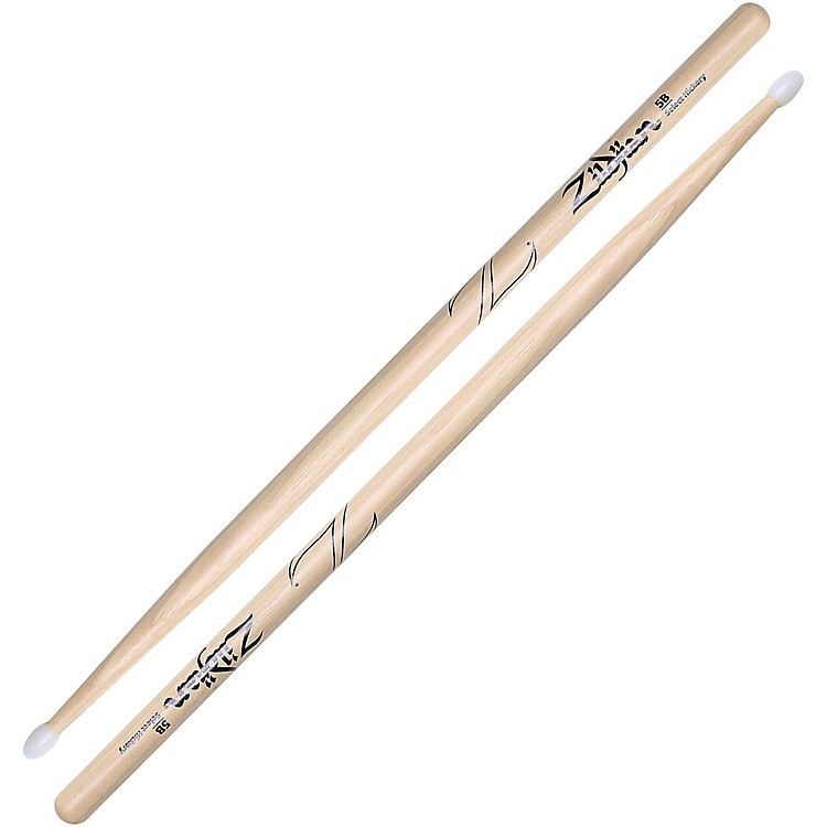 Zildjian Natural Hickory Drumsticks 5B Nylon