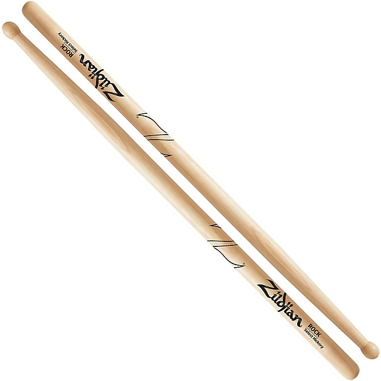 Zildjian Natural Hickory Drumsticks Rock Wood