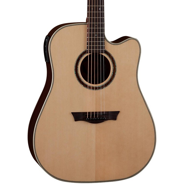 Dean Natural Series Dreadnought Cutaway Acoustic-Electric Guitar with Aphex
