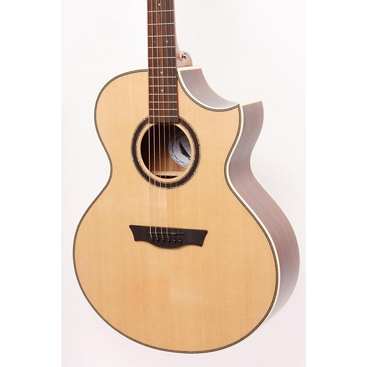 Dean Natural Series Florentine Cutaway Acoustic-Electric Guitar with Aphex Gloss Natural 886830830648