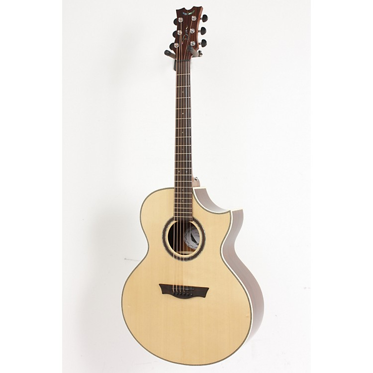 Dean Natural Series Florentine Cutaway Acoustic-Electric Guitar with Aphex Gloss Natural 886830486999