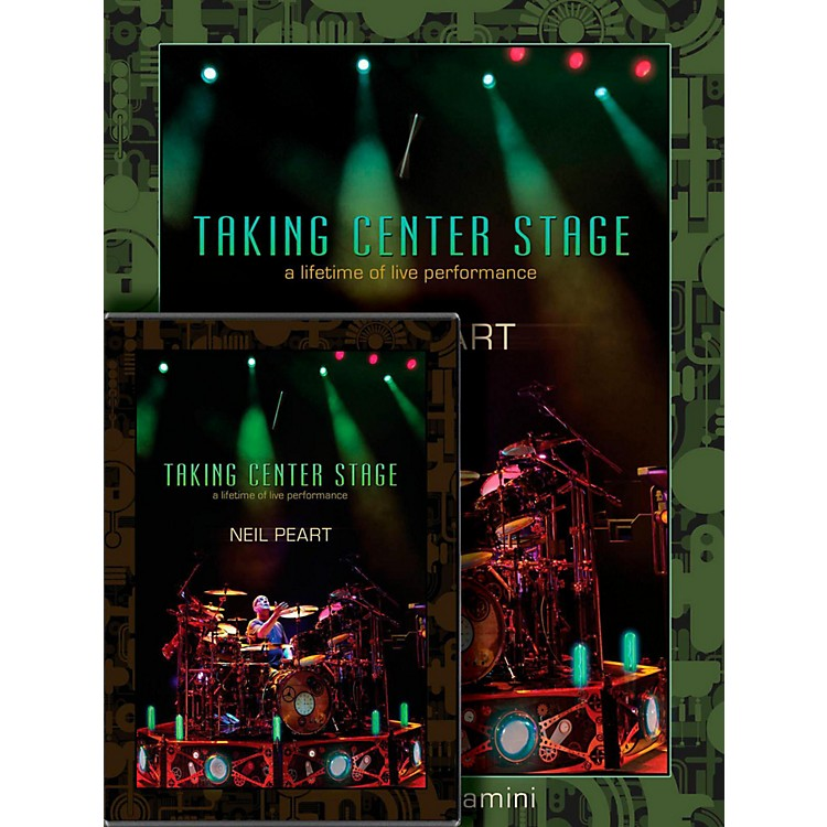 Hudson Music Neil Peart Taking Center Stage Combo Pack Book/DVD