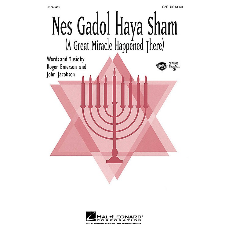 Hal LeonardNes Gadol Haya Sham (A Great Miracle Happened There) 2-Part Composed by John Jacobson, Roger Emerson