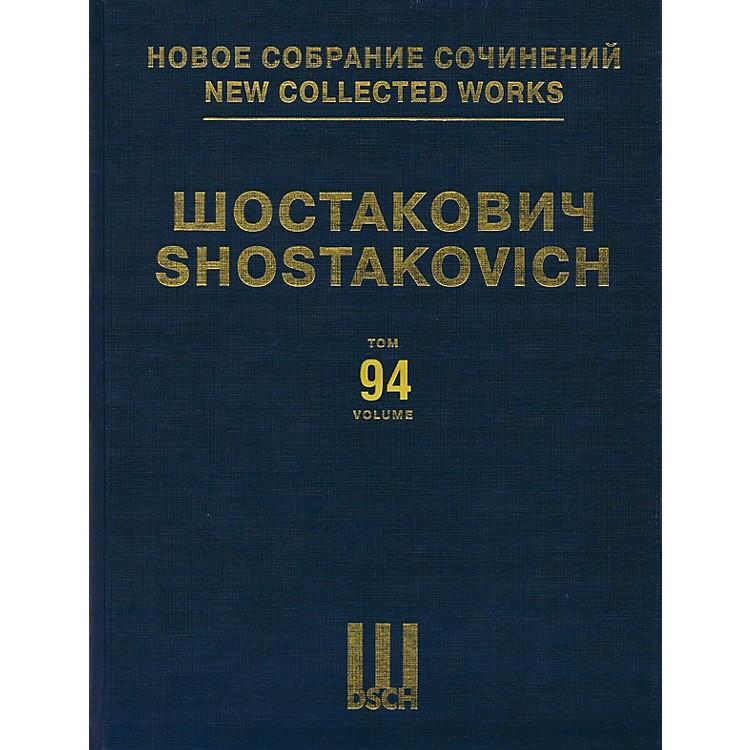 DSCHNew Collected Works of Dmitri Shostakovich - Volume 94 DSCH Series Hardcover by Dmitri Shostakovich