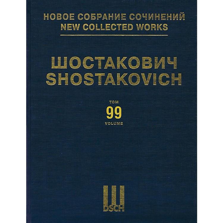 DSCHNew Collected Works of Dmitri Shostakovich - Volume 99 DSCH Series Hardcover by Dmitri Shostakovich