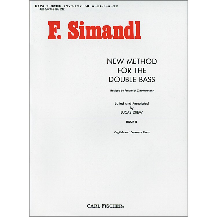 Carl FischerNew Method For The Double Bass - Book II
