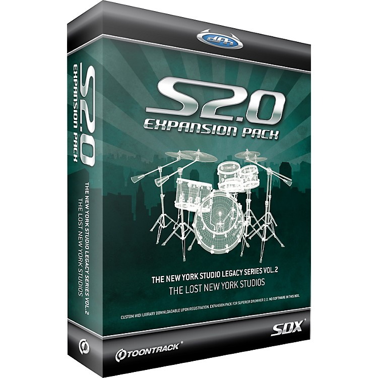 Toontrack New York Studio Legacy Series Vol.2 SDX Sample Collection for Superior Drummer 2.0