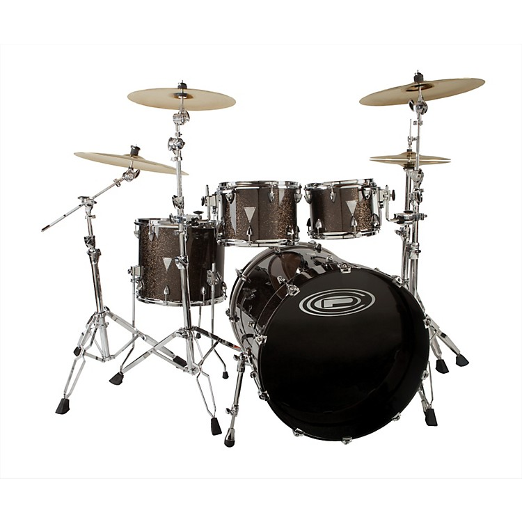 Orange County Drum & Percussion Newport 4-Piece Shell Pack Black Gold Glitter