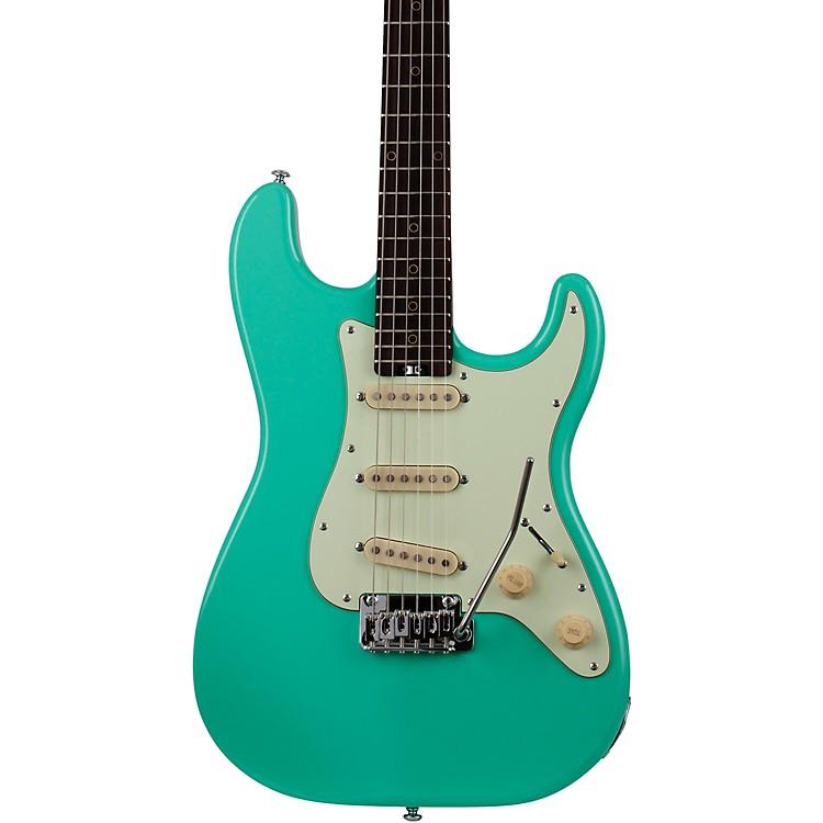 Schecter Guitar ResearchNick Johnston Traditional Electric GuitarAtomic CoralMint Green Pickguard