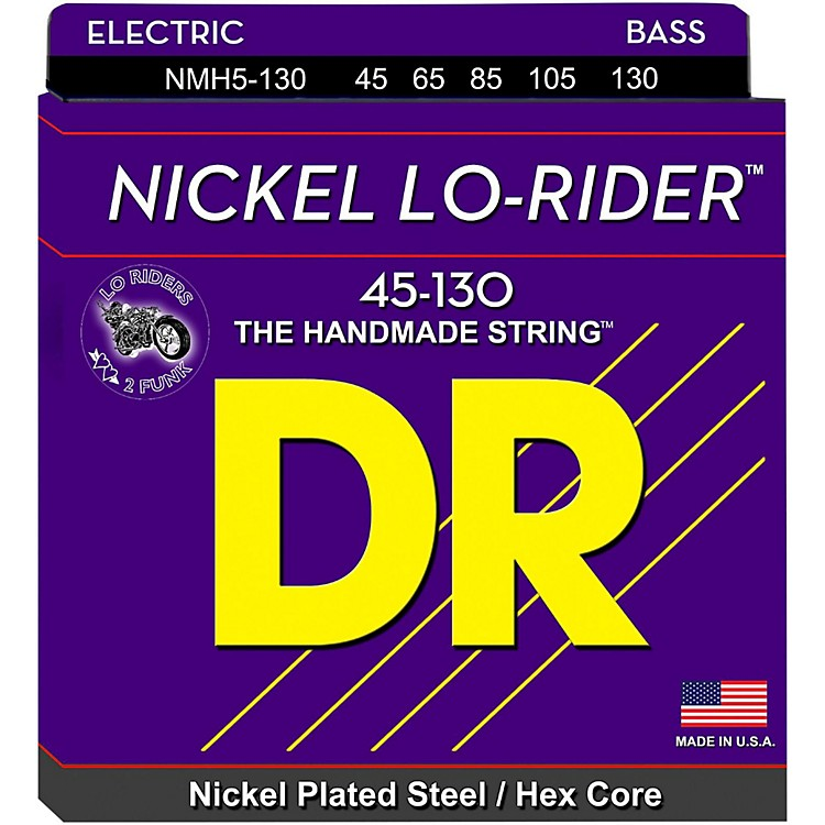 DR Strings Nickel Lo-Rider 5 String Bass Medium .130 Low B (45-130)
