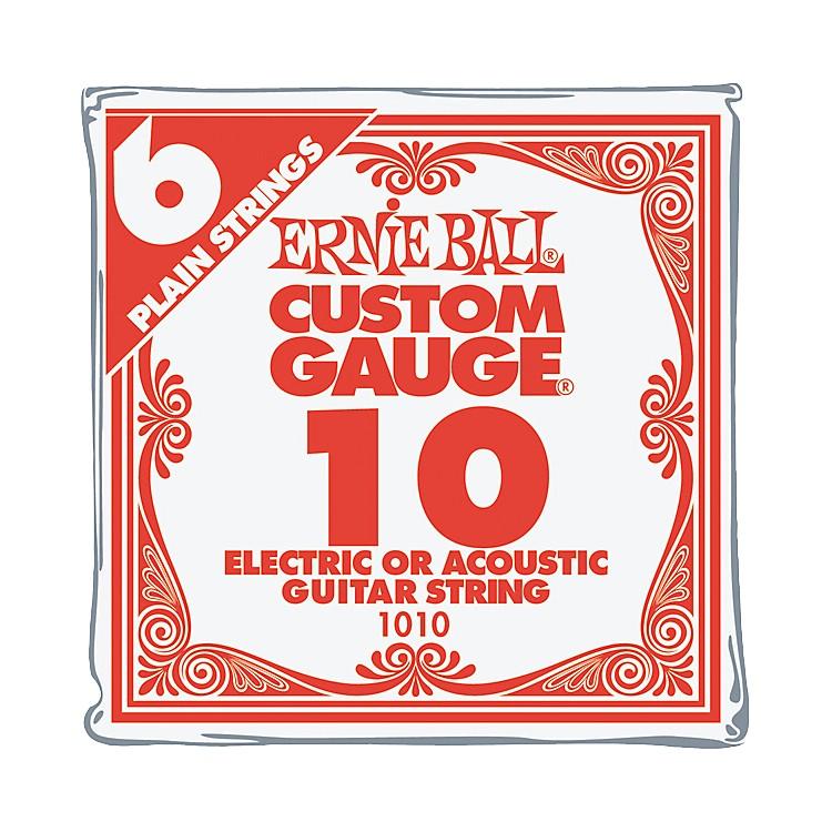 Ernie BallNickel Plain Single Guitar String.010 Gauge6-Pack