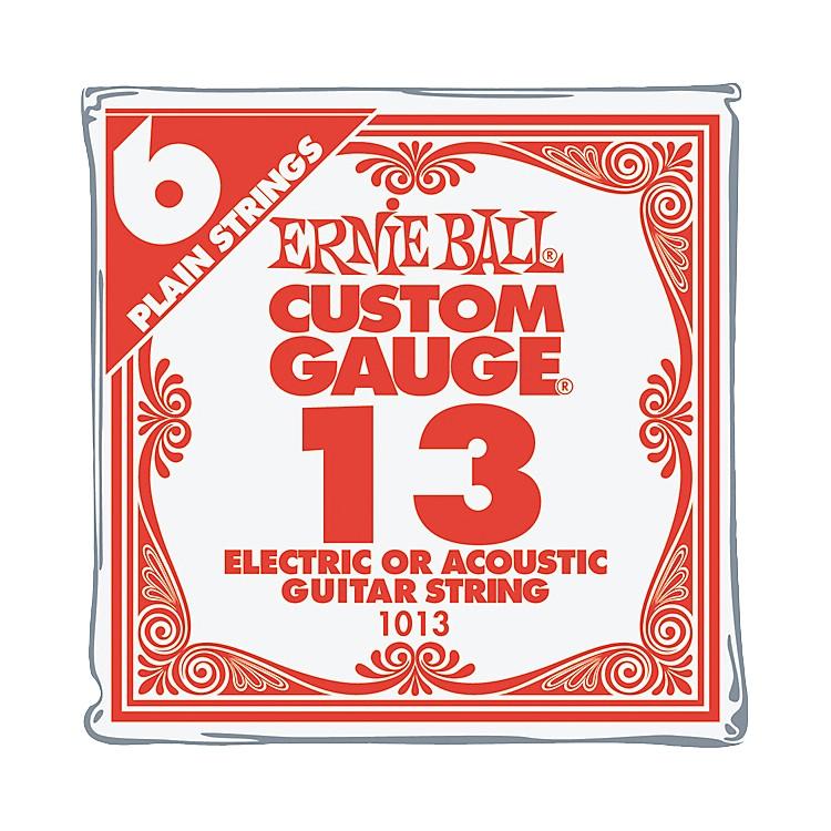Ernie BallNickel Plain Single Guitar String.013 Gauge6-Pack