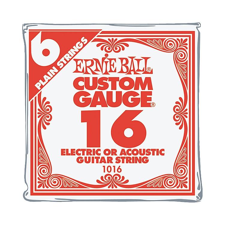 Ernie BallNickel Plain Single Guitar String.016 Gauge6-Pack