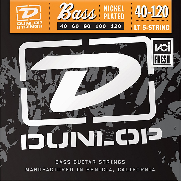 DunlopNickel Plated Steel Bass Guitar Strings - Light 5-String