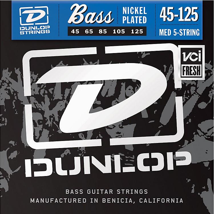DunlopNickel Plated Steel Bass Strings - Medium 5-String