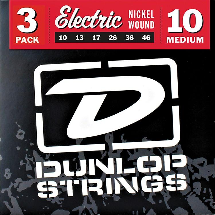DunlopNickel Plated Steel Electric Guitar Strings Medium 3-Pack