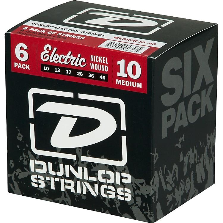 DunlopNickel Plated Steel Electric Guitar Strings Medium 6-Pack