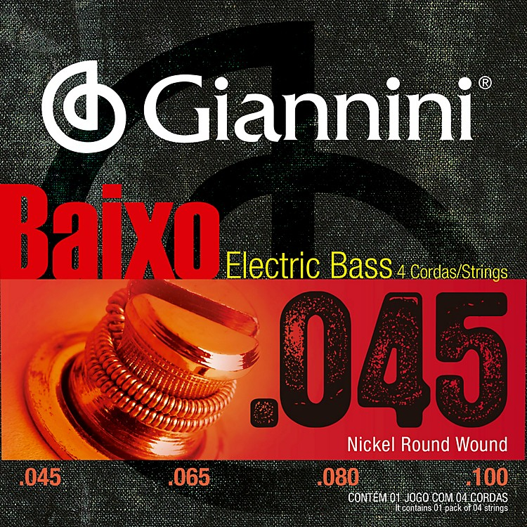 GianniniNickel Round Wound Electric Bass Strings