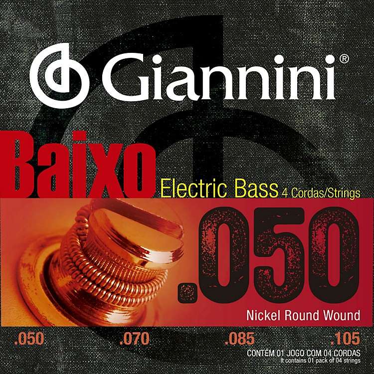 GianniniNickel Round Wound Medium .50-.105  Electric Bass Strings