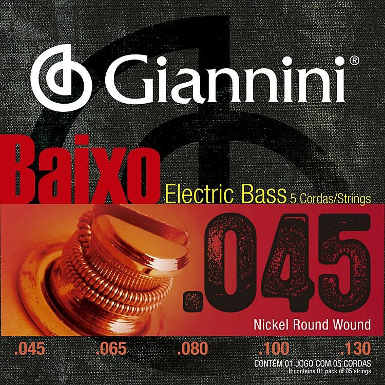 GianniniNickel Round Wound Regular Light .45-.130 5 String Electric Bass Set