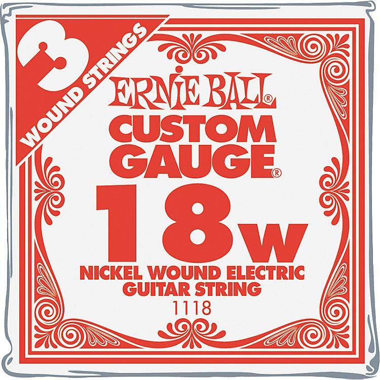 Ernie BallNickel Wound Single Guitar Strings 3-Pack.018 Gauge3-Pack