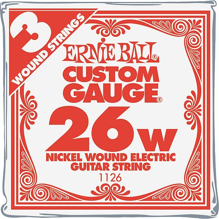 Ernie BallNickel Wound Single Guitar Strings 3-Pack.026 Gauge3-Pack