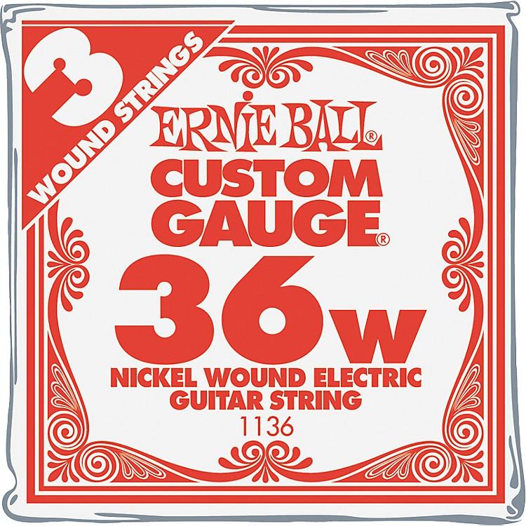 Ernie BallNickel Wound Single Guitar Strings 3-Pack.036 Gauge3-Pack