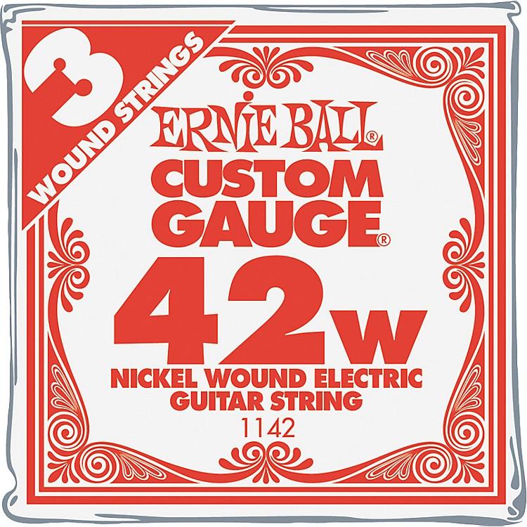 Ernie BallNickel Wound Single Guitar Strings 3-Pack.042 Gauge3-Pack