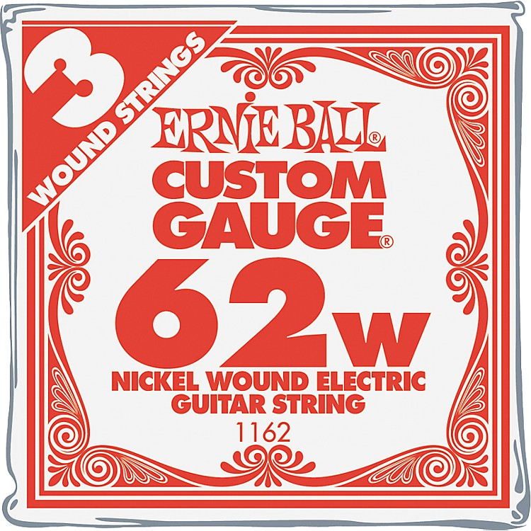 Ernie Ball Nickel Wound Single Guitar Strings 3-Pack .058 Gauge 3-Pack