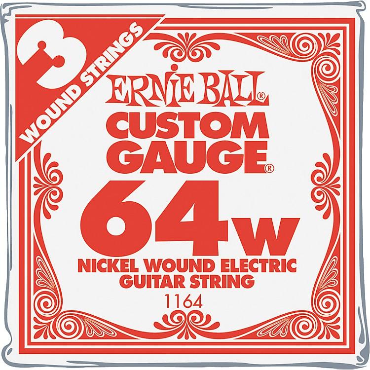 Ernie BallNickel Wound Single Guitar Strings 3-Pack.064 Gauge3-Pack