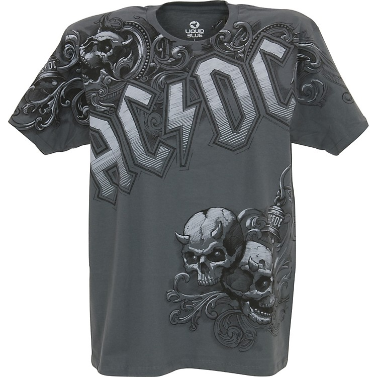 ac dc night prowler t shirt gray medium music123. Black Bedroom Furniture Sets. Home Design Ideas