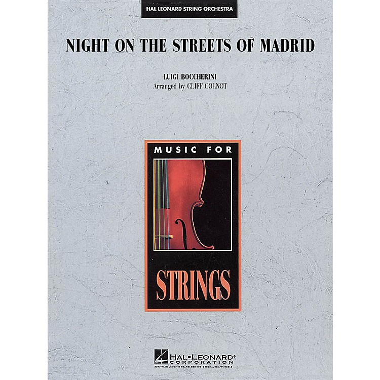 Hal LeonardNight on the Streets of Madrid Music for String Orchestra Series Arranged by Jamin Hoffman
