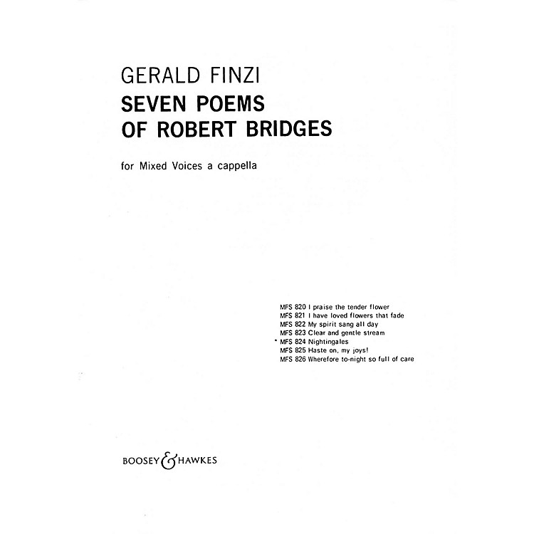 Boosey and HawkesNightingales (No. 5 from Seven Poems of Robert Bridges) SSATB A Cappella composed by Gerald Finzi