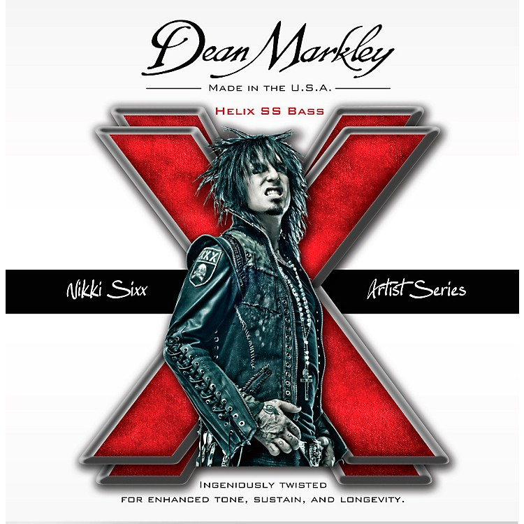 Dean Markley Nikki Sixx Helix HD SS Bass Guitar Strings