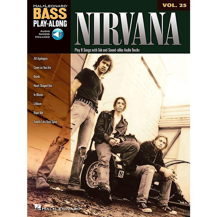 Hal LeonardNirvana Bass Play-Along Volume 25 (Book/CD)