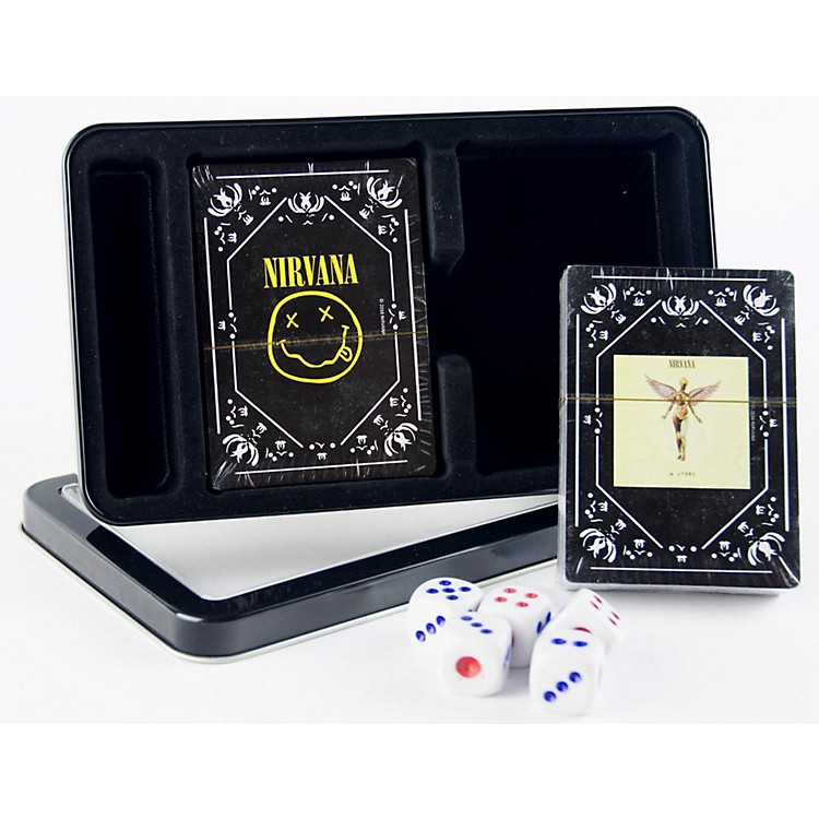 Axe Heaven Nirvana Double Deck Playing Card Set with Dice - In Utero Cover and Nirvana Smiley in Tin Box