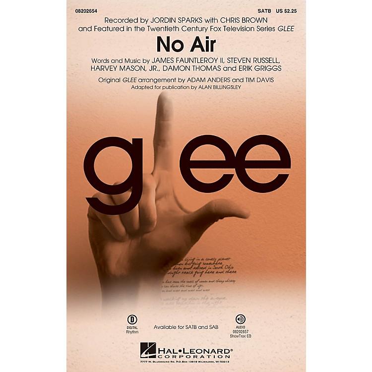 Hal LeonardNo Air (from Glee) SATB by Chris Brown arranged by Adam Anders