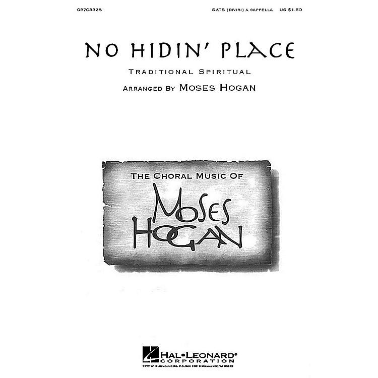 Hal LeonardNo Hidin' Place SATB DV A Cappella arranged by Moses Hogan