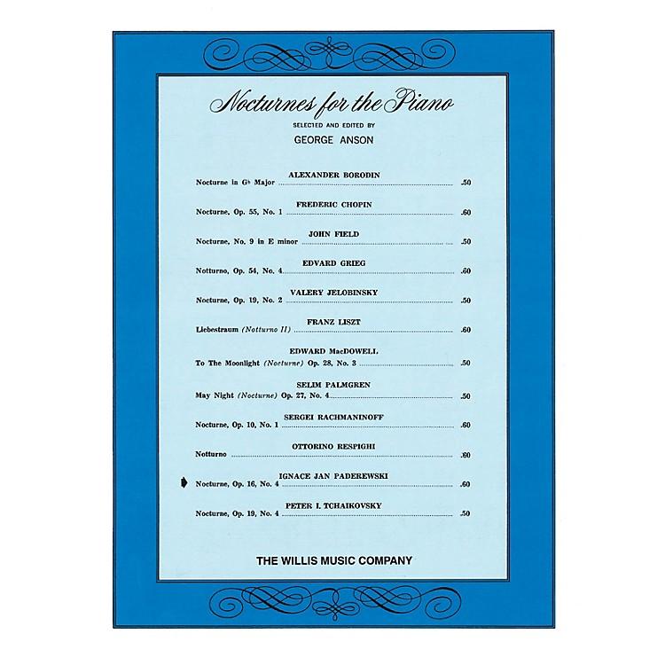 Willis MusicNocturne, Op. 16, No. 4 (Later Inter) Willis Series by Ignacy Jan Paderewski