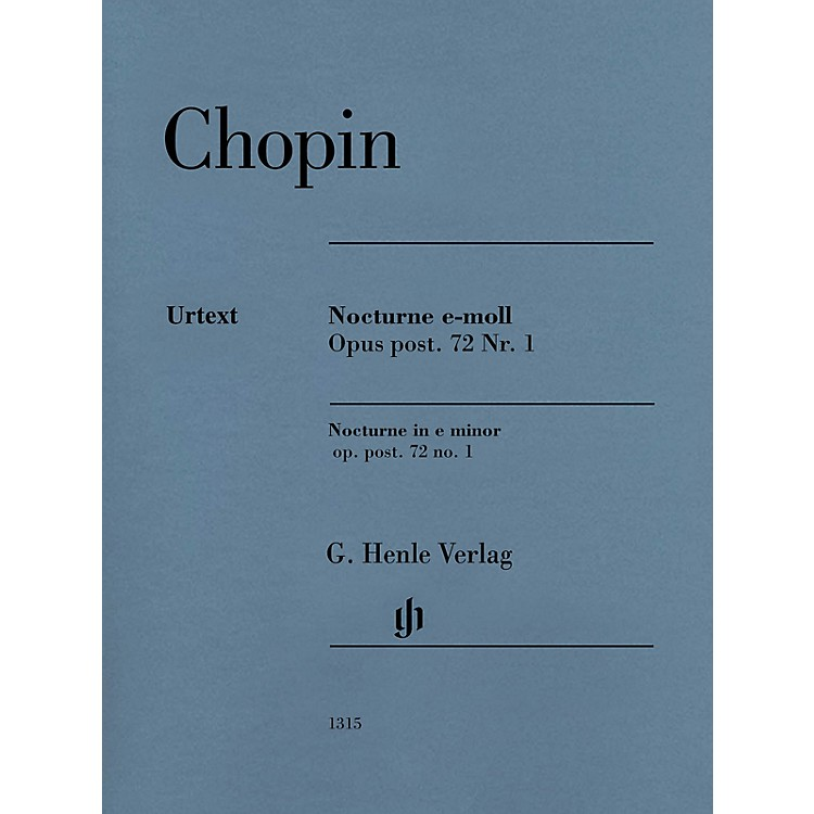 G. Henle VerlagNocturne in E Minor Op. Post. 72, No. 1 (Edition with Fingering) Henle Music Folios Series Softcover
