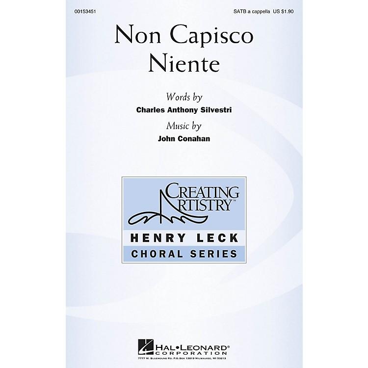 Hal LeonardNon Capisco Niente SATB a cappella composed by John Conahan