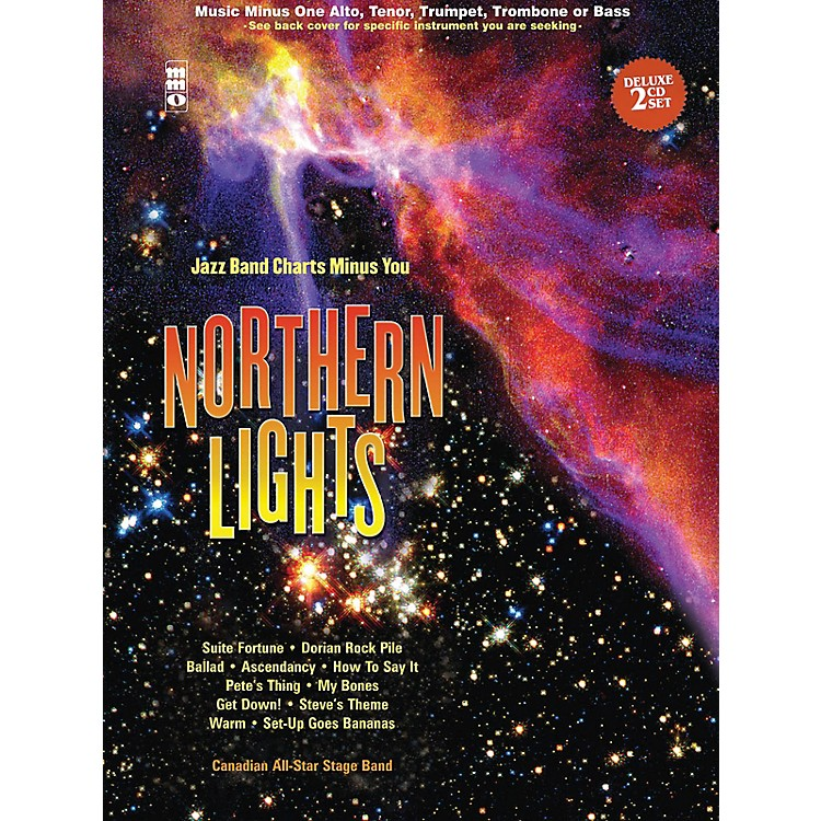 Music Minus OneNorthern Lights - Tenor Saxophone Music Minus One Book with CD by Canadian All Star Stage Band
