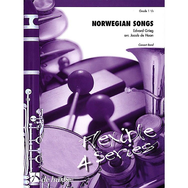 De Haske Music Norwegian Songs Concert Band Level 1.5 Arranged by Jacob de Haan