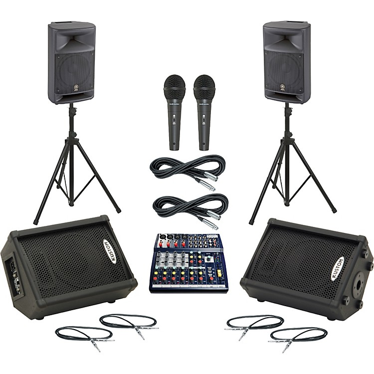 Soundcraft Notepad 124 / MSR250 Mains & Monitors Package