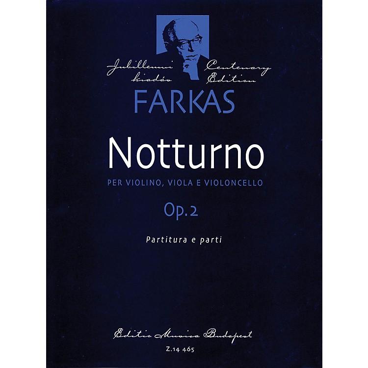 Editio Musica BudapestNotturno, Op. 2 (Violin, Viola, Violoncello) EMB Series Composed by Ferenc Farkas